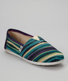 Navy Stripe Slip-On Shoe | Daily deals for moms, babies and kids