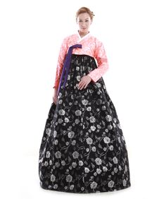 http://www.antiquealive.com/store/detail.asp?idx=4901 Custom Made Faux Silk Flower Black Evening Party Hanbok Korean Dress
