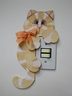 GATINHO INTERRUPTOR by Ateliê Mimos e Cores, via Flickr