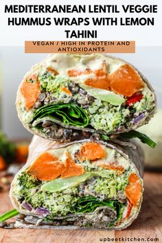 Veggie Recipes, Lunch Recipes, Whole Food Recipes, Vegetarian Recipes, Cooking Recipes, Healthy Recipes, Veggie Food, Wrap Recipes, Cooking Tips