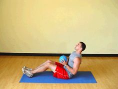 Today's Exercise: Seated Torso Twists with Medicine Ball