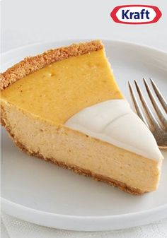 Creamy Pumpkin Pie – Sour cream helps make this pumpkin pie extra creamy, while cream cheese gives it a flavor and texture that's as much cheesecake as it is pie!