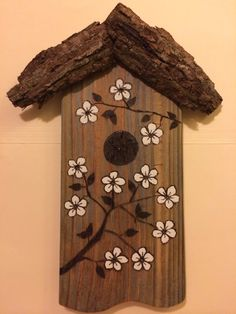 Birdhouse.  Wood burning.  Pyrography.  Woodcraft.