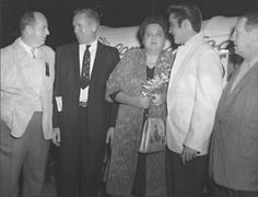 Parker, Vernon, Gladys and Elvis Presley and J. M. Savery at the Fairgrounds - Sep. 27, 1957 Photo courtesy Tupelo (Images of America)