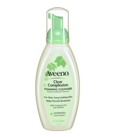Aveeno Clear Complexion Foaming Cleanser | Do you have a beauty obsession? Here, we happily share ours, the products that Real Simple staffers swear by—heck, live by.