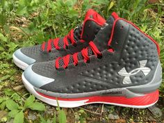 GREY RED Under Armour Curry 1