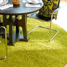 Moss green area rug #ashi