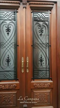 Wooden Front Door Design, Front Gate Design, Double Door Design, Door Gate Design, Room Door Design, House Wall Design, Small House Interior Design, Door Design Interior, Window Glass Design