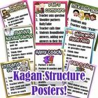Kagan Cooperative Learning Structure Posters - round robin, instant star, fan-n-pick, rally coach, stand-up hand-up pair-up, pairs compare, think-write-roundrobin, all write roundrobin.