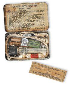 Digital Photo Image Vintage Snake Bite Kit - Medical Oddities Obscure