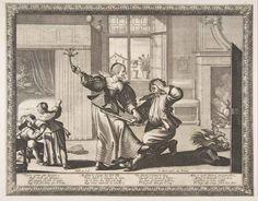 с.1633.Bosse, Abraham. Husband-Beater (La Femme battant son mari).Etching with engraving. 10 1/16 x 12 15/16 in. (25.5 x 32.8 cm). Metropolitan Museum of Art, New York NY.