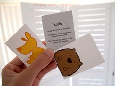 #DIY Australian Animals Flashcards Printable, fun and a great way to learn about wildlife in the outback!