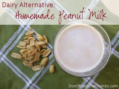 Dairy Alternative: Homemade Peanut Milk... no nut is immune to our experimentation of non-dairy milk alternatives. Make peanut milk at home, in just minutes!