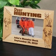 engraved deer hunting wood picture frames someday e will get his first deer with his