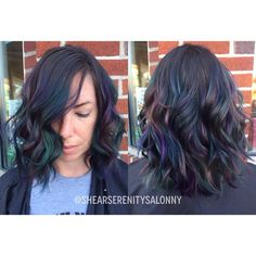 Oil slick hair // @hairartbykitty • 48 likes