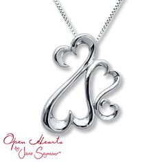 Open Hearts Family Necklace Sterling Silver, incase anyone wants to get me a Valentine's gift (: