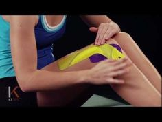 KT Tape: How to tape the Lateral side of the knee for pain from Iliotibial Band Syndrome, and overuse injuries.