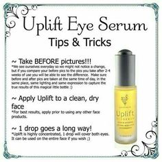 This is one of my favs!! I use this twice a day... in the morning before applying makeup I put 2 drops in my moisturizer and rub all over my face and neck and night after I wash my face then 4 drops all over my face ;)