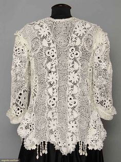 Edwardian Irish Lace Coat, Augusta Auctions, April 9, 2014 - NYC, Lot 230