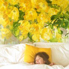 Sunday morning #kids #artist #artiststudio #yellow #tulips #okanagan #spring