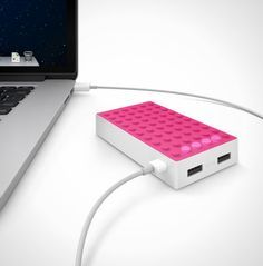 Power up on the go with this portable charger.