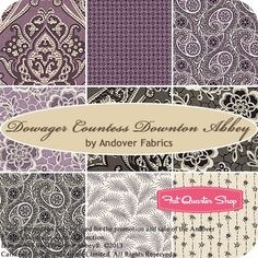 Better in person! Dowager Countess Downton Abbey Fat Quarter Bundle Andover Fabrics.  (Note: fabric.com, hawthornethreads.com and fatquartershop.com have Downton Abbey collection fabrics).  I ordered 1/2 yard pieces of about 10+ designs.  I will be ordering more!