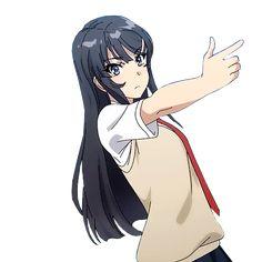 Mai's gun (Seishun Buta Yarou) there are plenty more just click the image for more great gifs Otaku Anime, Manga Anime, Kawaii Anime Girl, Anime Art Girl, Beautiful Anime Girl, Anime Love, Mai Sakurajima, Chinese Cartoon, Cute Love Memes