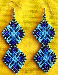 Your place to buy and sell all things handmade Seed Bead Earrings, Beaded Earrings, Crochet Earrings, Seed Beads, Beading Projects, Beading Tutorials, Beaded Jewelry Patterns, Beading Patterns, Loom Beading