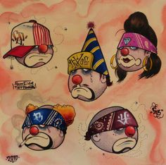 CLOWN,FACES,DRAWING