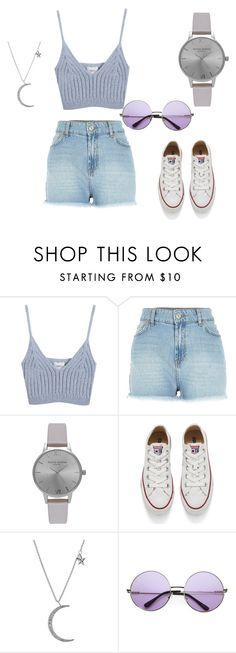 """✌"" by yolanti ❤ liked on Polyvore featuring Chicnova Fashion, River Island, Olivia Burton, Converse, Anita Ko and INDIE HAIR"