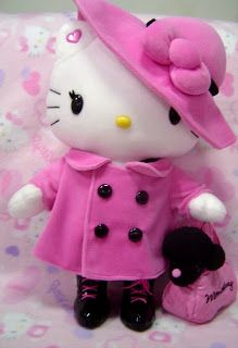 Hello Kitty Momoberry Pink Peacoat Plush
