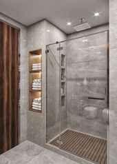 small bathroom decor and tips on bathroom remodel Bathroom Design Small, Bathroom Interior Design, Modern Bathroom, Master Bathrooms, Showers For Small Bathrooms, Small Bathroom Makeovers, Fitted Bathrooms, Condo Bathroom, Silver Bathroom