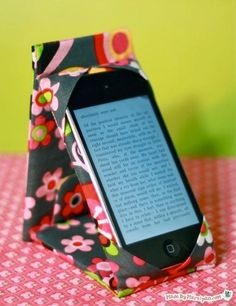 DIY Fabric Phone Case : DIY Make An Awesome iPhone; Aanpassen voor E-reader