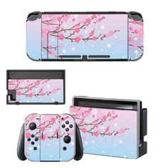 Pink Flowers Nintendo switch decals for Nintendo switch Console. Choose your favorite design from a huge range switch decals collection for Nintendo Switch Console. Buy Nintendo Switch, Otaku Room, Console Styling, Easy To Use, Pink Flowers, Personal Style, Animal Crossing, Decals, Colorful