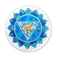 Chakra Visshudha - Chakra de la Garganta / Pin & Magnet  6 cm. 5€ unidad