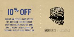 Coquitlam Express Game Day Discount at Townhall Coquitlam & Micky's Public House