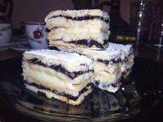 Hungarian Cake, Hungarian Recipes, Krispie Treats, Rice Krispies, Izu, Tiramisu, Dessert Recipes, Food And Drink, Cookies