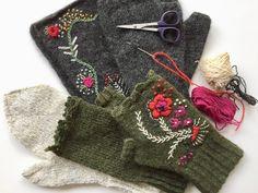 handmade mittens ... | Shetland wool by Karen Noe design