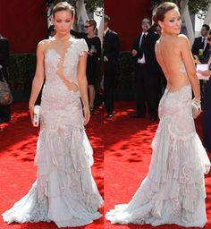 Olivia Wilde in Marchesa Spring 2010 Gown & Clutch at Emmy Awards