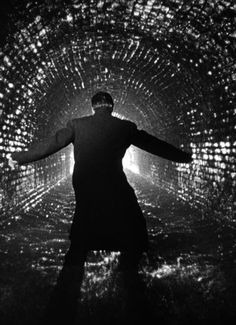 """""""The Third Man"""" (1949). Orson Welles' repellent Harry Lime finally trapped--in the Vienna sewers..."""