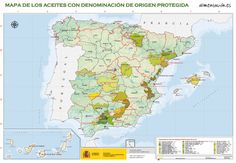 Mapas de #Alimentos con Denominación de Origen Protegida e Indicación de Origen Protegida #España #DO