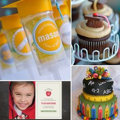Fun graduation party ideas for pre-K and kindergarteners What was hot the year you graduated high school? How to keep your foundation from melting in the sun Controversial moves that will save you money How to update your LBD for Summer Gorgeous Graduation Crafts, Pre K Graduation, Kindergarten Graduation, Graduation Celebration, Graduation Cupcakes, Kindergarten Classroom, Classroom Activities, School Parties, Grad Parties