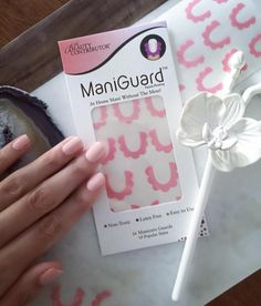 Manicure done with ManiGuard in Peony. Pretty Hands, Latex Free, Pedi, Manicure, Easy, Nail Bar, Nail Manicure, Manicures