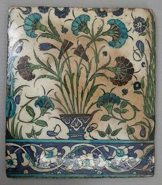 Tile    late 16th century    Syria