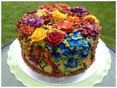 Amazing cakes with floral decoration Gorgeous Cakes, Pretty Cakes, Cute Cakes, Yummy Cakes, Amazing Cakes, Garden Cakes, Floral Cake, Art Floral, Occasion Cakes