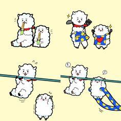Má ơi dễ thương xỉuuu :,,)) Gia đình RJ ♡ Namjin, Bleach Couples, Jimin Fanart, Line Friends, Bts Drawings, Bts Chibi, Bts Fans, Worldwide Handsome, Bts Group