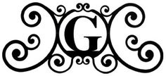Monogram Wall Art, Letter G, Wrought Iron Made in the USA by Village Wrought Iron
