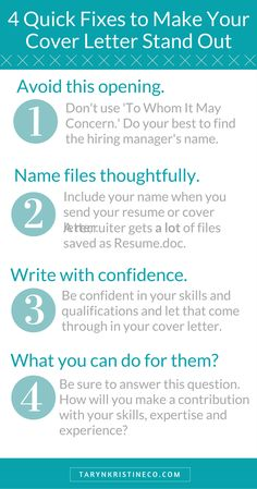 Resumedoc 5 Tips To A Cover Letter That Will Get You Hired #2 Http .
