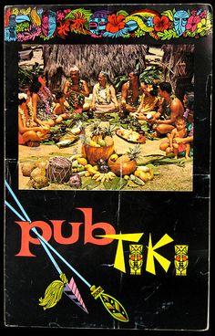 Pub Tiki vintage menu via Arkiva Tropika Vintage Menu, Vintage Tiki, Retro Vintage, Tiki Restaurant, Tiki Hawaii, Tiki Head, Tiki Decor, Tiki Lounge, Thousand Islands