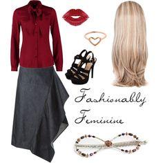Fashionably Feminine by megank-lillarose on Polyvore featuring Mexx Metropolitan, Marni, ChloBo, Lipsy, feminine, LillaRose and Flexi